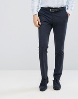 Reiss Slim Smart Pants In Check