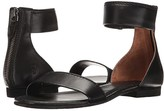 Frye Carson Ankle Zip (Black Soft Nappa Lamb) Women's Sandals