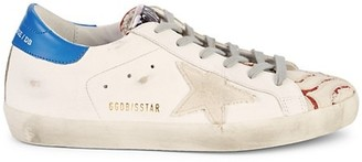 Golden Goose Superstar Leather Canvas Sneakers