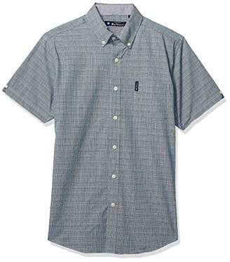 Ben Sherman Men's SS Multi CLR Plaid Shirt