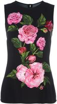 Dolce & Gabbana rose print tank top - women - Viscose - 38