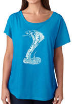 LOS ANGELES POP ART Los Angeles Pop Art Women's Loose Fit Dolman Cut Word Art Shirt - Tyles of Snakes