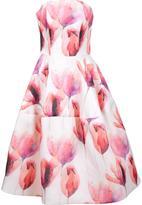 Christian Siriano strapless floral gown - women - Silk - 4
