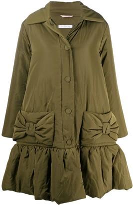 VIVETTA Peplum Hem Puffer Coat