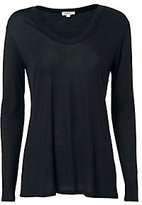L'Agence Perfect Scoop Neck Black Long Sleeve Tee