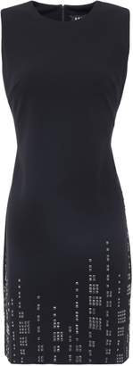 DKNY Studded Stretch-crepe Mini Dress