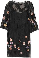 Suno Embellished Embroidered Lace Mini Dress
