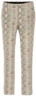 Rokh Snake-effect mid-rise pants