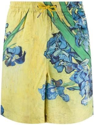 Daily Paper Drawstring Floral-Print Swim Shorts