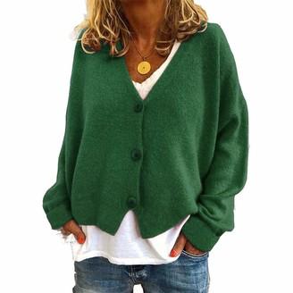 Huha Women Open Front Cardigan Long Sleeve Knit Sweater S-3XL Black