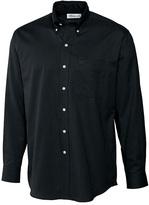 Cutter & Buck Black Nailshead Woven Button-Up - Big & Tall