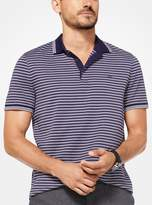Michael Kors Greenwich Striped Cotton Polo Shirt