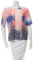 MSGM Lace Tie Dye Top