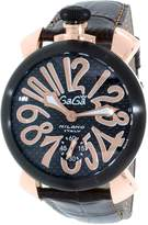 GaGa MILANO Men's 5014.01S Leather Automatic Fashion Watch