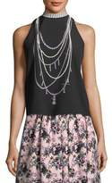 Moschino Pearl Necklace-Graphic Tank
