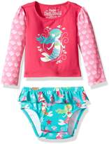 Hatley Girls' Baby Rash Guard Set