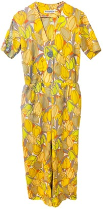 Printed Cotton Short Sleeve Jumpsuit In Vintage Fabric & One Of A Kind