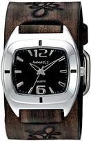 Nemesis Women's 'Retro Vintage Series' Quartz Stainless Steel and Leather Watch, Color:Brown (Model: DBVFB090K)