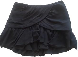 Maje Anthracite Silk Skirt for Women