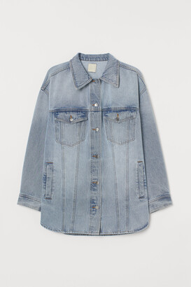 H&M Oversized denim shirt jacket