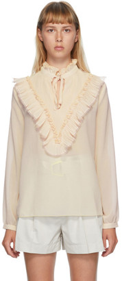 See by Chloe Pink Georgette Frill Blouse