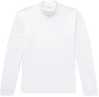 Club Monaco Cotton-Jersey Mock Neck T-Shirt