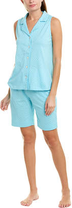 Carole Hochman 2Pc Pajama Top & Short Set