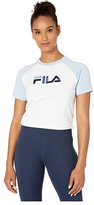 Fila Salma Tee (White/Cashmere Blue/Peacoat) Women's Clothing