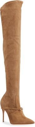 Jennifer Chamandi Alessandro 105mm Suede Over-The-Knee Boots
