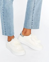 Blink Fur Trim Sneakers