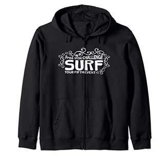 Graphic 365 Cute Surf Top Women Girls Funny Gift Zip Hoodie