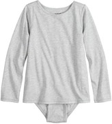 Toddler Girl Jumping Beans Adaptive Long Sleeve Mock-Layer Bodysuit