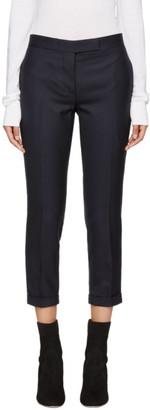 Thom Browne Navy Wool Low-Rise Skinny Trousers