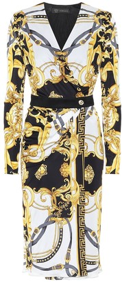 Versace Printed jersey midi dress