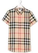 Burberry Short-sleeve Check Cotton Twill Shirt