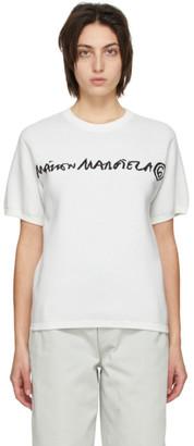 MM6 MAISON MARGIELA Reversible White and Black Jacquard Logo Sweater