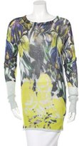 Dries Van Noten Floral Print Knit Sweater
