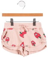 Stella McCartney Girls' Apple Print Knit Shorts
