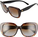 Tory Burch 56mm Rounded Square Sunglasses