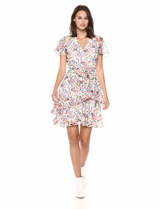 Tahari by Arthur S. Levine Women's Floral Chiffon Dress