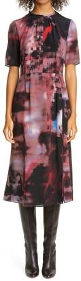 Altuzarra Brushstroke Print Silk Dress