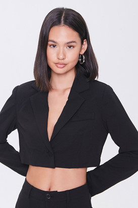 Forever 21 Cropped Single-Breasted Blazer