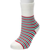 Jammies For Your Families Women's Striped Gripper Slipper Socks