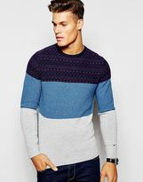 Tommy Hilfiger Jumper In Cable Knit And Crew Neck - Blue