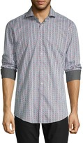 Bugatchi Striped Long-Sleeve Shirt