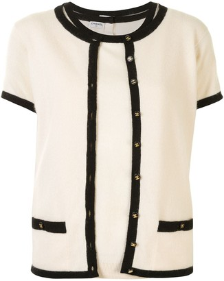 Chanel Pre Owned CC buttons vest and cardigan set