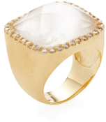 Rivka Friedman Rock Crystal & Mother of Pearl Doublet Ring