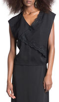 Tracy Reese Lace Trim Boxy Top