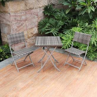 Rosecliff Heights Baylee 3 Piece Bistro Set Rosecliff Heights Frame Color: Gray