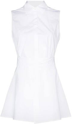 Rosetta Getty Sleeveless Cotton Shirt